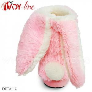 Cizmulite Interior Cu Urechi si Codita, Model 'Happy Bunny'