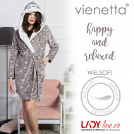 Halat Dama cu Gluga Extra Soft Vienetta 'Happy and Relaxed'