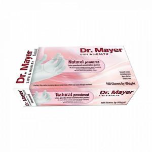 Manusi Examinare Pudrate Cauciuc Natural Alb Dr. Mayer 100 Bucati