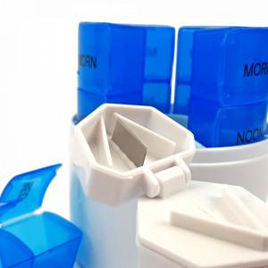Organizator Medicamente 3in1 pentru Sapte Zile cu Cutit si Mini Piua cu Mojar