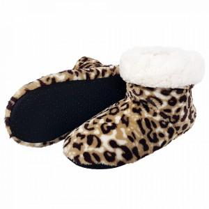 Papuci de Casa tip Cizmulite Animal Print, 'Leopard'