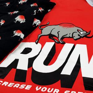 Pijama Barbati Bumbac 100% Gazzaz by Vienetta 'Run Incrase Your Speed' Red