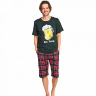 Pijama Barbati Gazzaz by Vienetta, 'Beer Season' Green