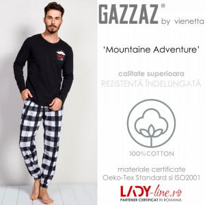 Pijama Barbati Gazzaz by Vienetta, 'Mountaine Adventure'