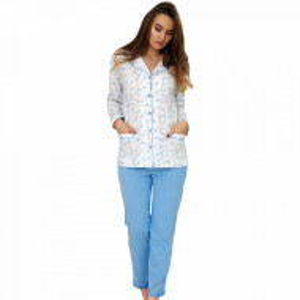 Pijama Dama Cu Nasturi, 'Blue Fantasy', M-M Nightwear