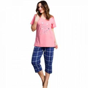 Pijama Dama din Bumbac, Vienetta, Model Cookie Love Story