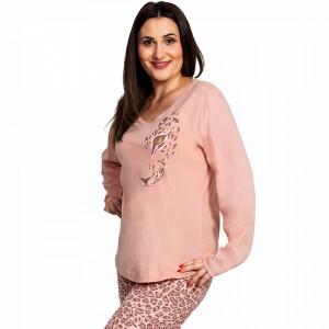Pijama Dama Marimi Mari Vienetta, Bumbac 100%, 'Sexy Feline'