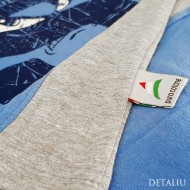 Pijamale Barbati, Contro Senso, Bumbac 100% Natural, 'Street Soul' Blue Long