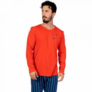 Pijamale Barbati din Bumbac 100% Gazzaz by Vienetta Model 'Happy Life' Red