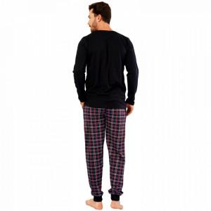 Pijamale Barbati din Bumbac Gazzaz by Vienetta Model 'Mr. Strong Let's Pump'