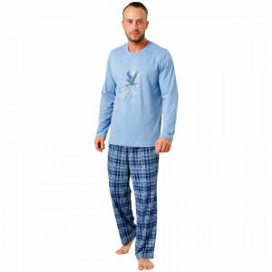 Pijamale Barbati M-Max, Bumbac 100%, 'Sky Eagle'