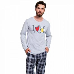 Pijamale Barbati Marimi Mari Gazzaz by Vienetta 'I Love Bear' Light