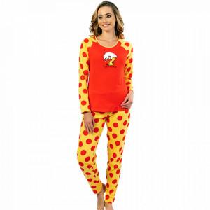 Pijamale Confortabile Dama Vienetta Model 'Enjoy the Little Things' Red