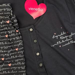 Pijamale Confortabile din Bumbac Marimi Mari Vienetta Model 'Lost in Memories'