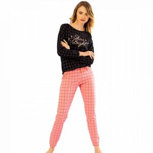 Pijamale Confortabile din Bumbac Vienetta Model 'Shine Bright' Dark