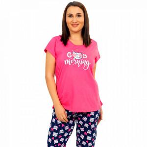 Pijamale Confortabile Marimi Mari Vienetta Model 'Good Morning' Fucsia
