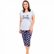 Pijamale Confortabile Marimi Mari Vienetta Model 'Good Morning' Gray
