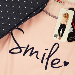 Pijamale Dama M-Max, Bumbac 100%, 'Smile'