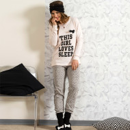 Pijamale Dama Snelly L'Originale, 'This Girl Loves Sleep' Pink