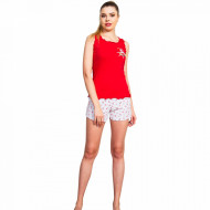 Pijamale Dama Vienetta, 'Adventures Fiver' Red