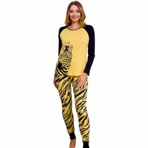 Pijamale Dama Vienetta Dream Model 'Beauty Zebra' Yellow