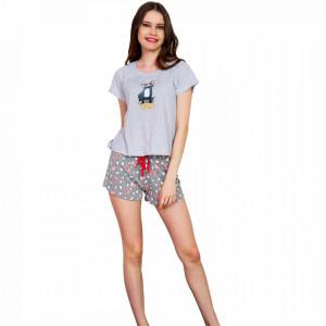 Pijamale Dama Vienetta, Model 'WeekEND' Gray