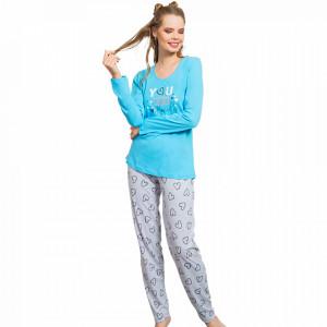 Pijamale Dama Vienetta, 'You Are Lovely' Blue