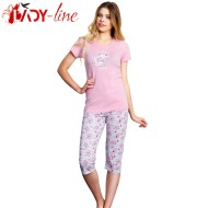 Pijamale Vienetta Secret, Bumbac 100%, 'Belive In Yourself' Coral