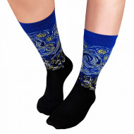 Sosete Clasice Colorate Unisex Cosas Boutique Socks Model 'Starry Night'