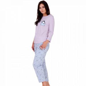 Pijama Dama Bumbac, M-Max, 'Mail Me' Pink