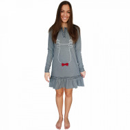 Nightwear Snelly L'Originale, 'Sweet & Happy' Gray