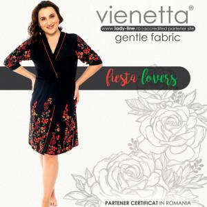 Halat Dama cu Cordon Detasabil Marimi Mari Vienetta Model 'Fiesta Lovers'