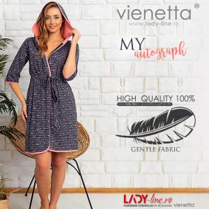 Halate Dama cu Gluga din Bumbac Vienetta Model 'My Autograph'