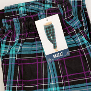 Pantaloni Pijama Barbati din Bumbac Gazzaz by Vienetta 'Vision'
