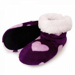 Papuci de Casa Tip Cizmulite 'Purple Love'