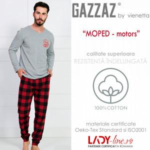 Pijama Barbati Gazzaz by Vienetta, 'Moped Motors'