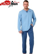 Pijama Barbati Maneca/Pantalon Lung, 'Royal District', M-M Nightwear