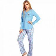 Pijama Dama Bumbac 100% Vienetta Model 'Just Happy'