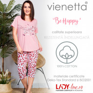 Pijama Dama Marimi Mari, Vienetta, 'Be Happy' Pink
