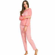 Pijama Dama Soft Velur Vienetta Model 'You Make My Heart Sing' Pink