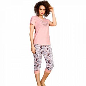Pijama Dama Vienetta Bumbac 100%, Model 'Best Friend Forever'