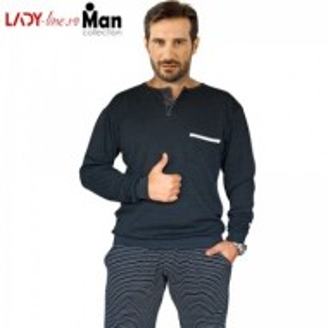 Pijamale Barbati Bumbac Interlock, Brand Snelly L'Originale, 'Strong Leader'