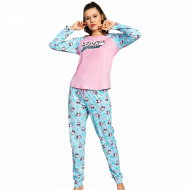 Pijamale Dama Bumbac 100% Vienetta Model 'Love Yourself'