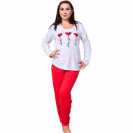 Pijamale Dama Marimi Mari Vienetta Model 'I Love You' Gray Light