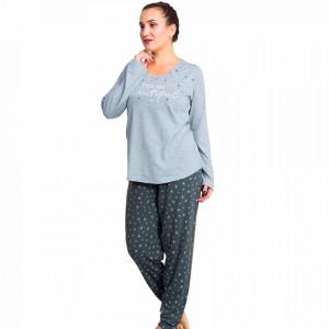 Pijamale Dama Marimi Mari Vienetta Model 'You are Beautiful' Gray
