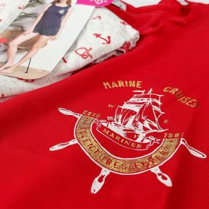 Pijamale Dama Vienetta, 'Adventures Fiver' Red