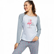 Pijamale Dama din Bumbac Vienetta Model 'My Sweety Dreams' Light
