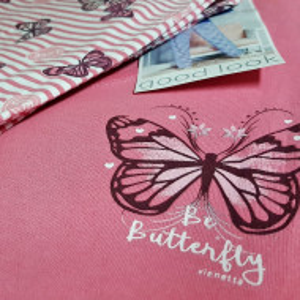 Pijamale din Bumbac Interloc, Good Look, 'Be Butterfly'
