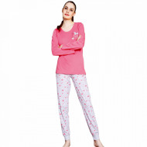 Pijamale Vienetta din Bumbac 100%, Model 'Softly Sleep'