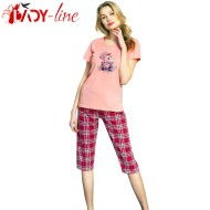 Pijamale Vienetta Secret, Bumbac 100%, 'Good Things Will Come' Pink